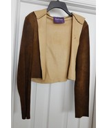 Ralph Lauren Purple Label Women's Suede Leather Jacket Coat Brown S (?) ... - $159.95