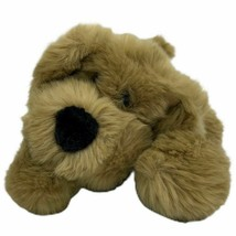 "Commonwealth Tan Beige Puppy Dog Lying Down Super Soft 10"" Toys R Us - $19.75"