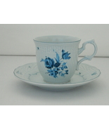 Cup And Saucer Set – Mikasa – Precious Blue Sheffield Pattern – D 2502 –... - $8.50