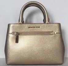 New Michael Kors Hailee XS Satchel handbag Leather Pale Gold - $115.00