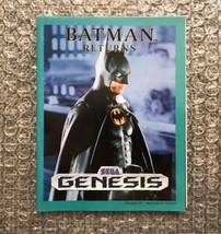 Sega Genesis Promotional Poster: Batman Returns/Sonic 2 -100% Original/A... - $9.50