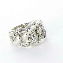 John Hardy Classic Chain RB933171 Hammered Sterling Link Ring Sz 7 NWT $495 - $334.65