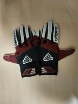 Adidas Adizero Smoke Football Gloves Grip Tack Maroon/Black/Gray XXL 2XL - $27.55