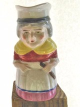 "Vintage Toby Pitcher Old Woman Colonial 5.5"" Japan Hand Painted - $19.00"