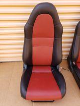00-05 Toyota MR2 Spyder Seats L&R Reupholstered W/ Tracks image 3