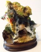Vintage Tilso Hand Painted Ceramic Hunting Dog Bird Retriever - $34.64
