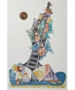 Signed Ebgi Ltd. Ed 95/150 - Jacob's Dream Of A Ladder - Embossed Lithog... - $1,039.36