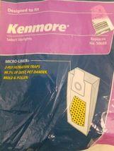 3 Kenmore Vacuum Cleaner Bags Type U O 50688 50690 5068 Allergen Micro Liner image 6