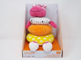 Manhattan Toy Giggle Soft Stacker Baby Toy, Pink Hippo - New - $23.74