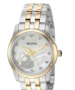 Bulova Women's Analog-Quartz Watch Two Tone, 18 (Model: 98P152)  - $214.95
