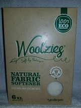 Woolzies Natural FABRIC SOFTENER 6 XL Dryer Balls Hypoallergenic Pure Wo... - $21.93