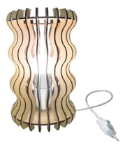Handmade  bedside  lamp made of Mdf Wood.  Modern and  contemporary  design - $48.00