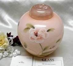 2992 Fenton Family Signature Camellia Ginger Jar - $155.00