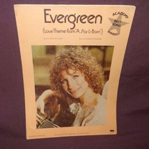 Evergreen Sheet Music Love Theme From A Star Is Born 1976 Barbra Streisand - $7.56