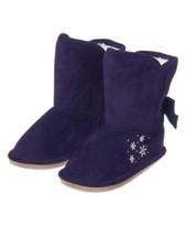 Gymboree Fair Isle Flurry Snowflake Boots Furry Lining Navy Blue Purple ... - £11.01 GBP