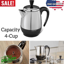 Farberware 2-4 Cup Percolator Stainless Steel Electric Coffee Pot Superf... - $53.95