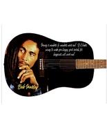 Bob Marley Life Quotes Custom Guitar - $329.00