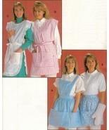Misses Kwik Sew Bib Straps Pullover Large Pockets Aprons Oven Mitt Sew P... - $12.99