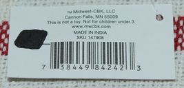 Midwest CBK Brand 147908 Red White Striped Tasseled Throw Blanket image 6