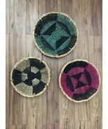 Set of 3 Target Woven Basket Wall Art Decor Raffia Seagrass Multi Colore... - $34.64