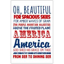 America The Beautiful Patriotic Wall Art - $6.44+