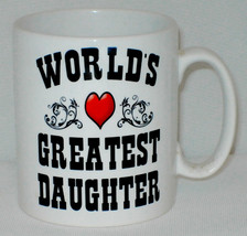 World's Greatest Daughter Mug Can Personalise Great Mum Dad Birthday In ... - $11.40