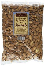 Trader Joe's 50% Less Salt Dry Roasted and Salted Almonds, 1 lb - $15.46