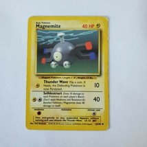 Pokemon Base Set 1999 Magnemite Card HP 53/102 TCG Trading Card Game Unlimited - $0.99