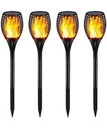Gold Armour Solar Lights Outdoor - Flickering Flames Torch Lights Solar ... - $140.80 CAD