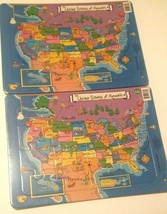 Teach Kids the United States of America and Capitols Jigsaw Puzzle - Two... - $12.86