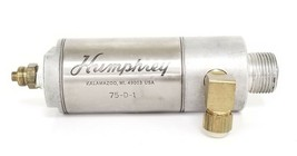 """HUMPHREY 75-D-1 AIR CYLINDER 1-3/4"""" BORE 1"""" STROKE STAINLESS STEEL"""