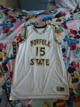 Norfolk State Spartans Martin #15 Basketball Jersey 2XL Authentic Game Worn - $74.24