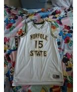 Norfolk State Spartans Martin #15 Basketball Jersey 2XL Authentic Game Worn - $74.24