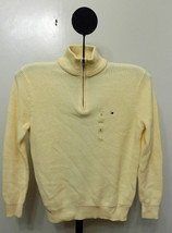 Tommy Hilfiger Beige Pearl Gift Tower Men's 1-4 Zip Sweater - Size Small - £23.46 GBP