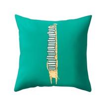 """18x18 18"""" GIRAFFE NERD BOOKWORM Zoo Animal Zippered Throw Pillow Case & ... - $19.99"""