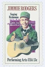 1978 Jimmie Rodgers US Postage Stamp Catalog Number 1755 MNH