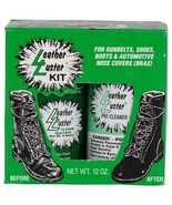 Leather Luster Kit High Gloss Black Polish & Pre-Cleaner Restore Protect... - $19.99