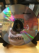 Microsoft Works 9 Disc Only - $3.85