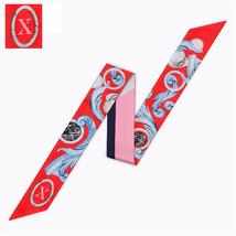 26 Letters Scarf New Design Print Women Silk Scarf 2018 Fashion Head Scarf Brand image 2