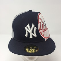 New Era New York Yankees Fitted Hat Size 7.5 MLB Baseball Big Patch NY - $40.58