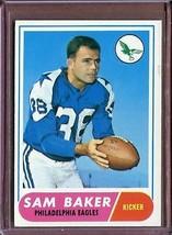 VINTAGE NFL 1968 Topps 32 Sam Baker VG-EX - $4.79