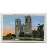 Dilworth Methodist Church Charlotte North Carolina 1938 postcard - $5.94