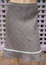 GAP Mint Green/Gray/Beige Woven Tweed Lined Wool Blend Trumpet Skirt (10) NEW - $14.60