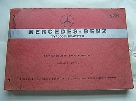 Mercedes 300 SL Owners Parts Manual Service W 198 - $2,999.99