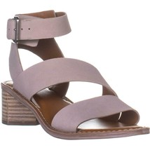 Franco Sarto Kaelyn Ankle Strap Sandals, Grey Leather, 7.5 US / 37.5 EU - $44.15