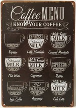 12x8 Antique Style Reto Tin Wall Hanging Sign - Coffee Java Latte Espres... - $20.54