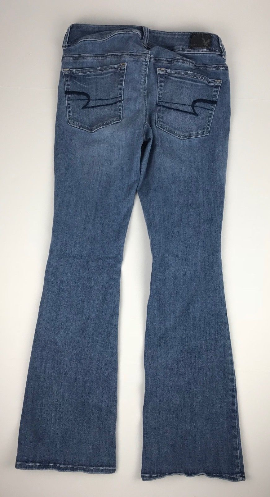 American Eagle Outfitters Super Stretch Kick Boot Denim Blue Jeans Women's 8R image 5