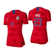 Nike Christen Press #23 Usa 2019 World Cup 3 Star Red Womens Youth Jersey Patch - $69.99