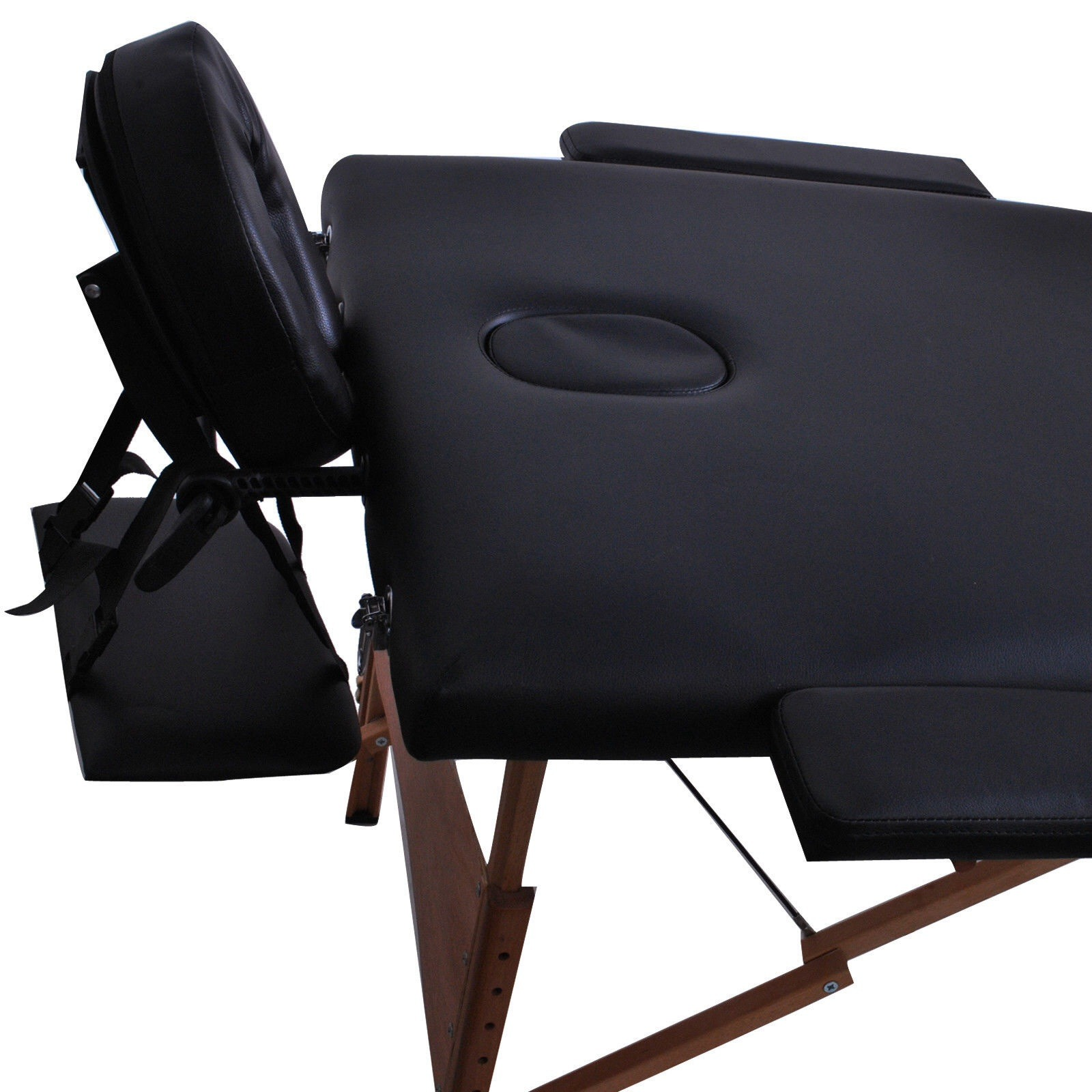 "New 84""L Portable Massage Table Facial SPA Bed Tattoo w/Free Carry Case Black"