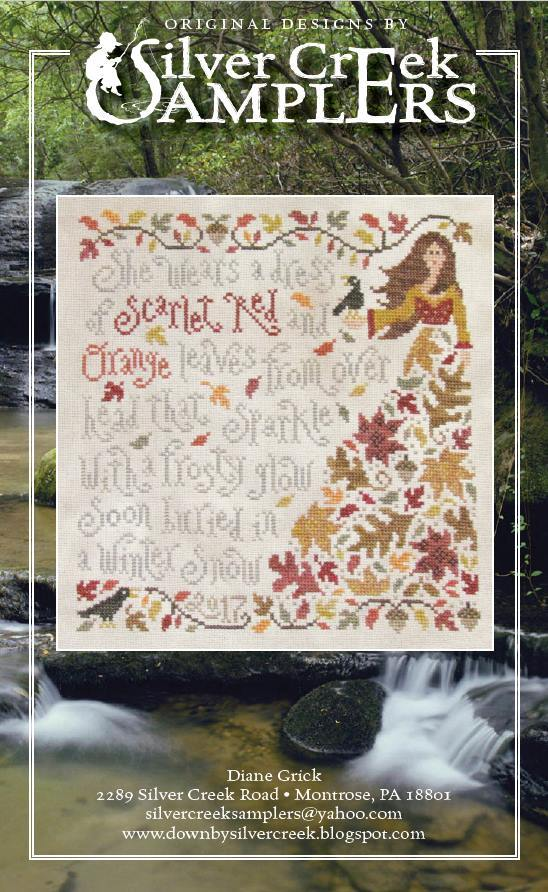 Olivia Ochreleipch cross stitch chart Silver Creek Samplers